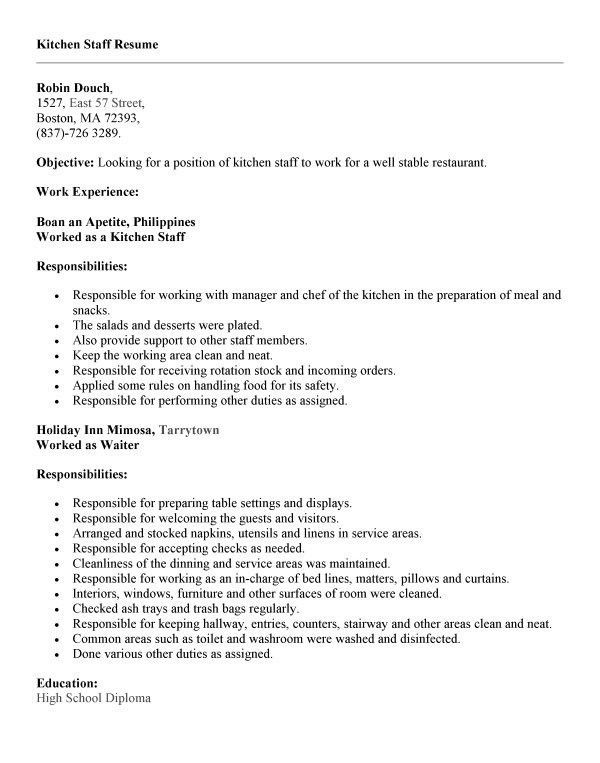 basic wait staff cover letter basic kennel assistant. gallery for ...