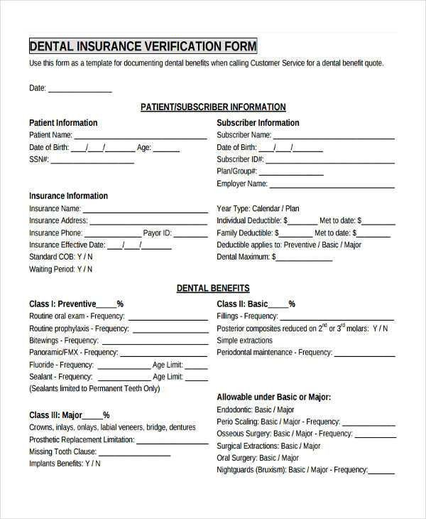17+ Sample Insurance Verification Forms