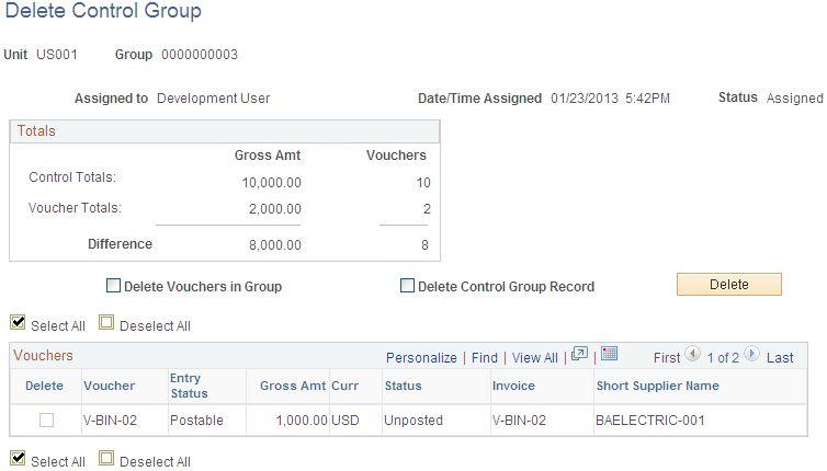 Defining Voucher Control Groups