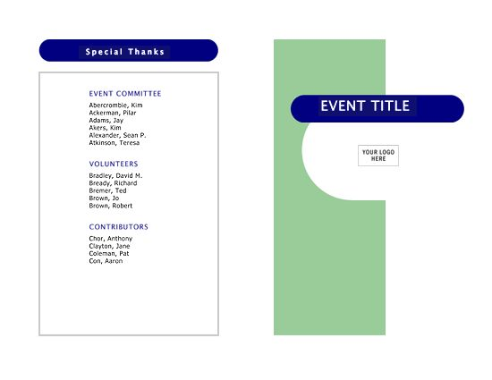 Event program (half-fold, 4 pages) - Office Templates