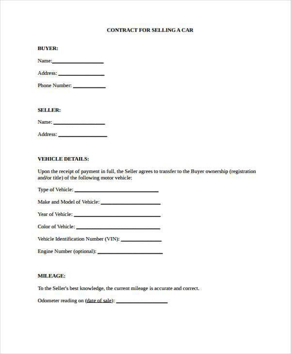Contract Forms in PDF