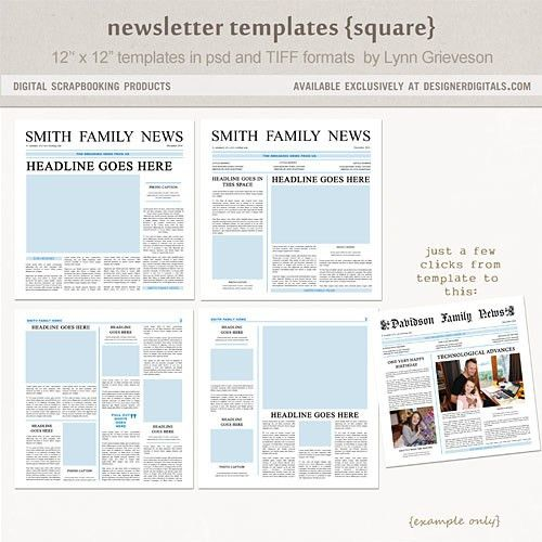 Newsletter templates (Notes from the side of a volcano)