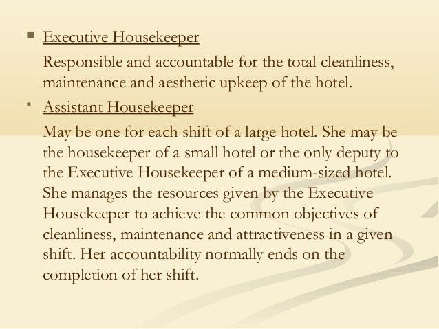 housekeeper hotel hospitality resume example modern highlights. 4 ...