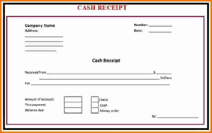 8+ cash receipt | Expense Report