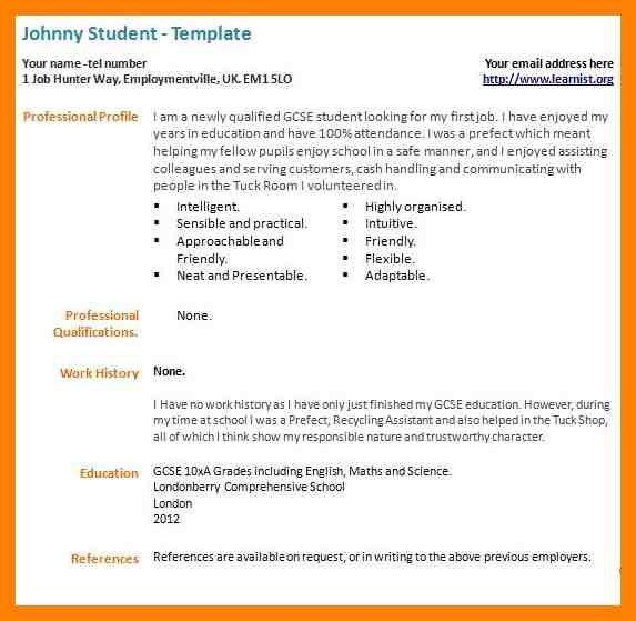 9+ student cv template for first job | cv for teaching