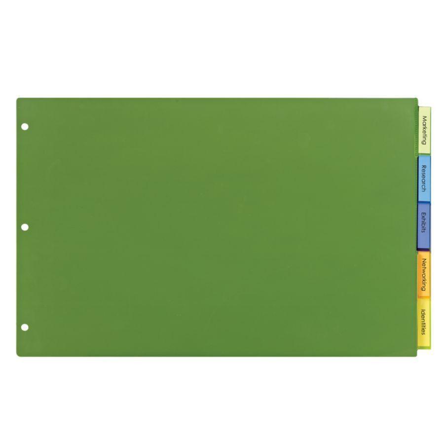 Avery Big Tab Insertable Plastic Dividers 11 x 17 Multicolor 5 Tab ...
