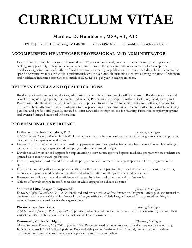 Hmo Administrator Resume Here Is The Free Sample Of Hmo