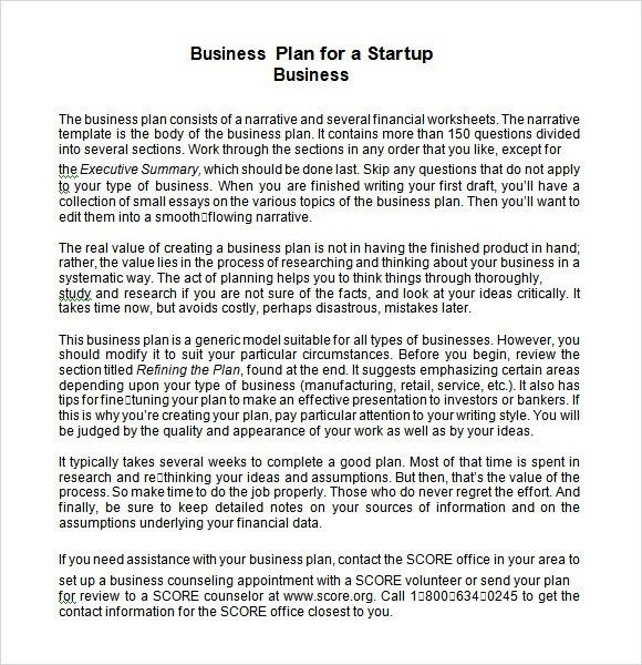 28+ Startup Business Plan Template Word | Startup Business Plan ...