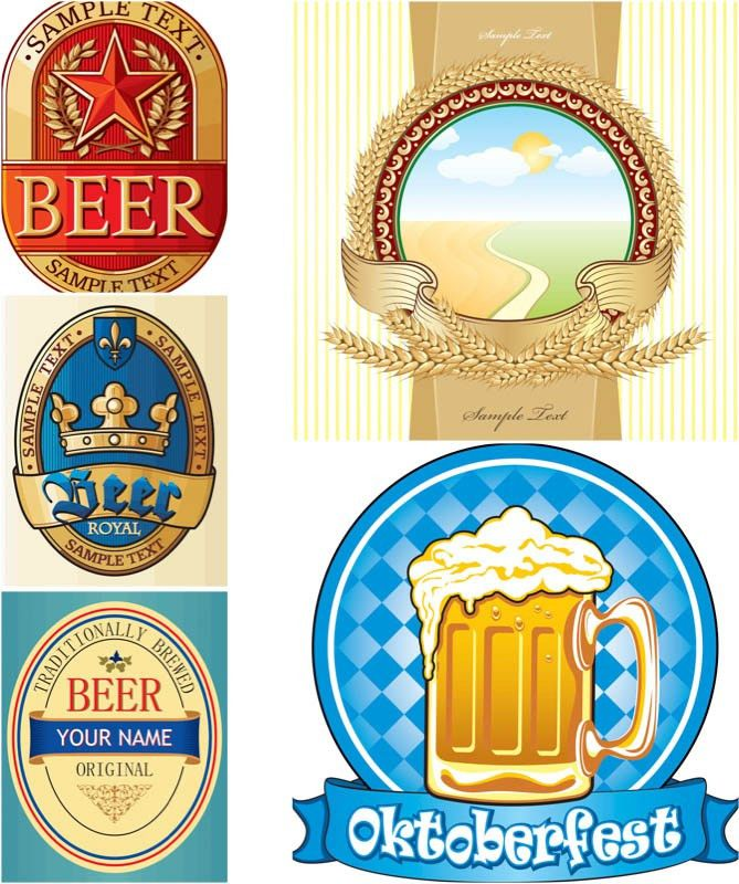 Vector beer label templates | Free Stock Vector Art ...