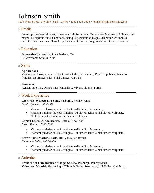 Well-Suited Ideas Templates For Resumes 6 7 Free Resume - CV ...