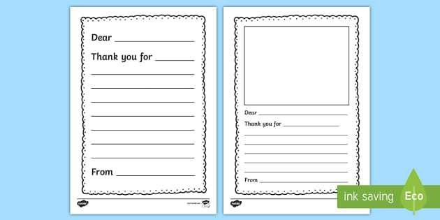 Thank You Letter Writing Template - thank you, letter, writing