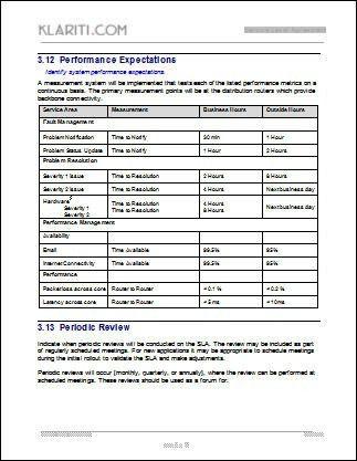 Service Level Agreement Template | peerpex