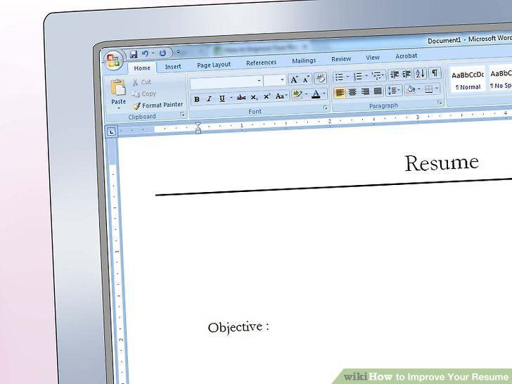 2 Easy Ways to Improve Your Resume (with Pictures)