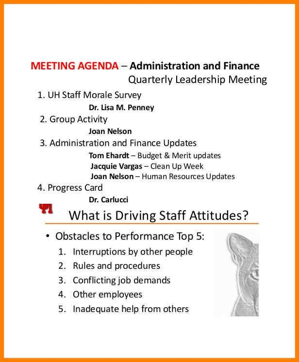 Staff Meeting Agenda Template Committee Meeting Agenda ...