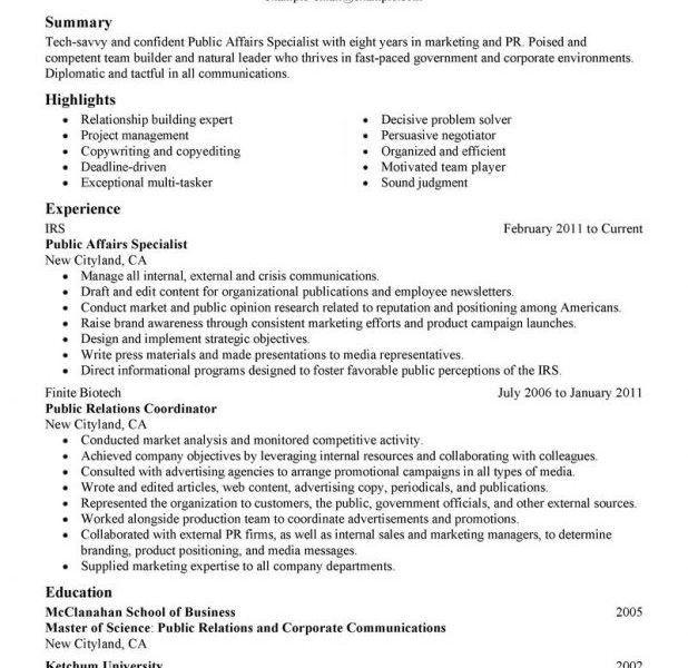 resume builder military