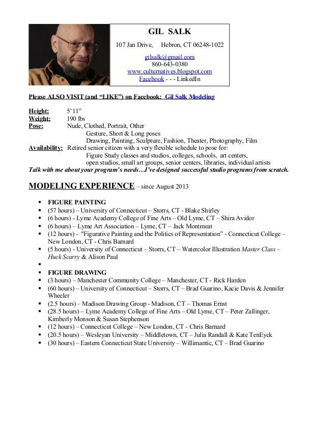 MODELING RESUME - Experience