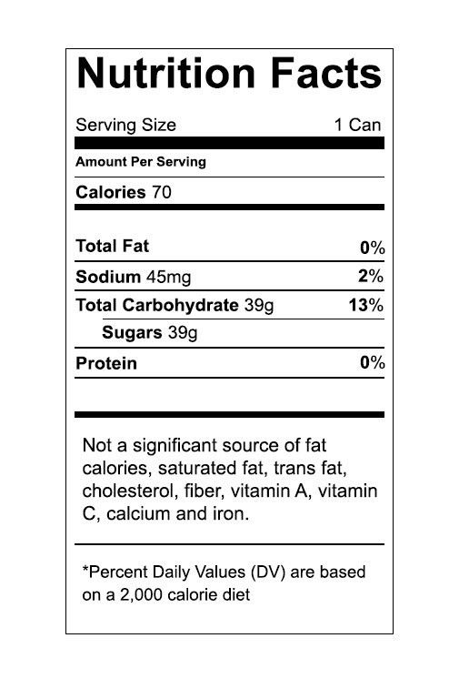 Ingredients Label Template] Nutrition Label Template Download ...