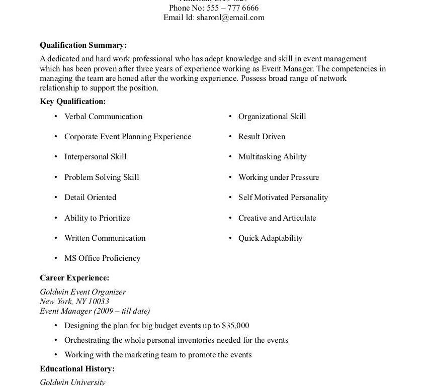 No Experience Resume Sample - Resume Example