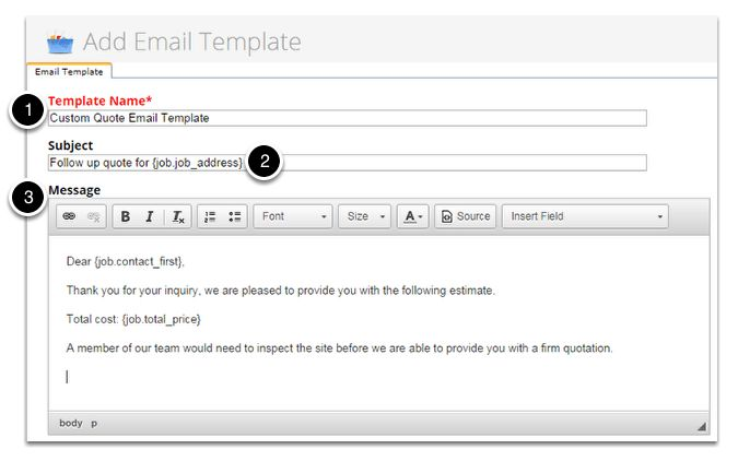 Creating your own email template – ServiceM8 Help