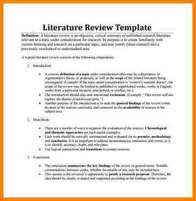5+ literature review example | monthly bills template