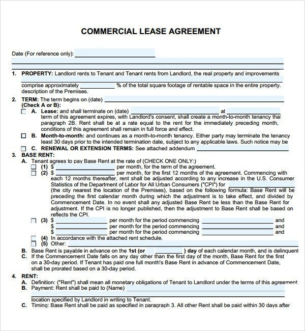 Downloadable Lease Agreement for Yours Inspirations : Vlcpeque