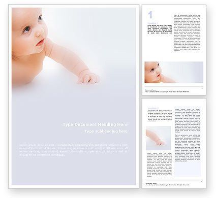 Baby On Light Blue Background Word Template 01580 ...