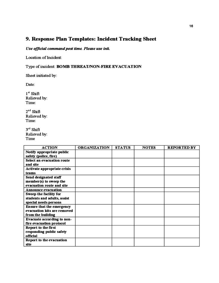 Sample School Safety Plan Template Free Download