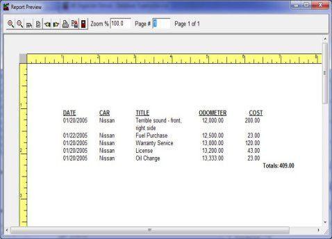 print auto,car,maintenance,repair reports