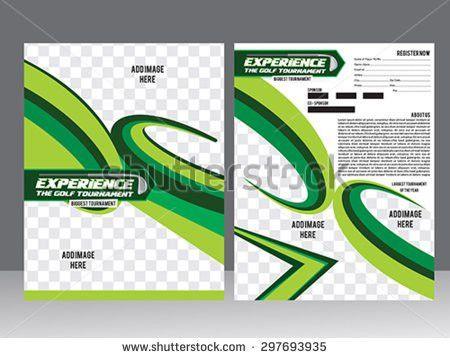 Golf Tournament Flyer Template Design Vector Stock Vector ...