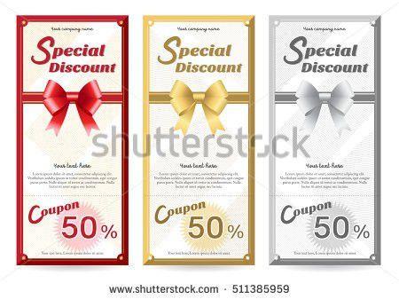 Elegant Portrait Gift Voucher Gift Card Stock Vector 492499231 ...