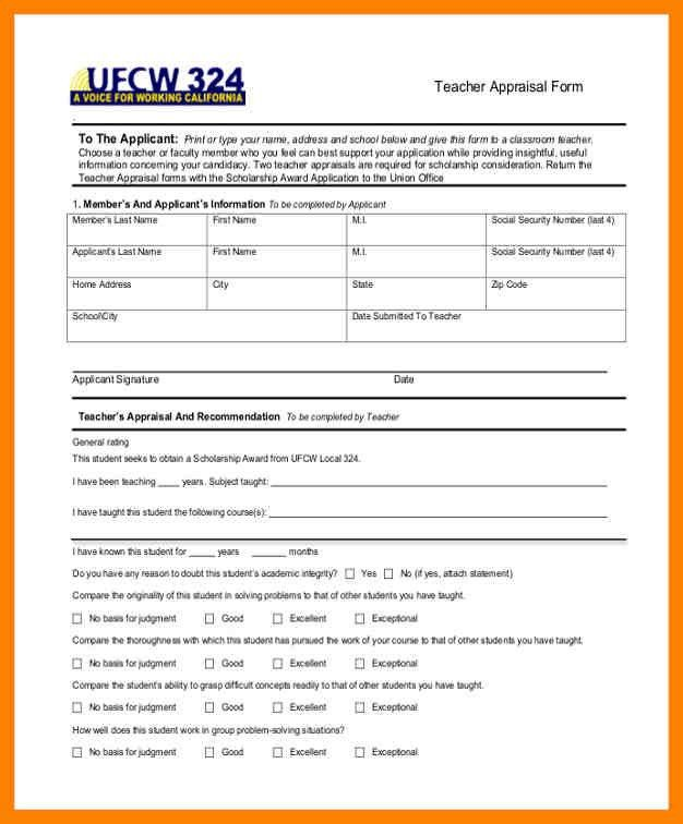 9+ teacher appraisal form sample | day care receipts