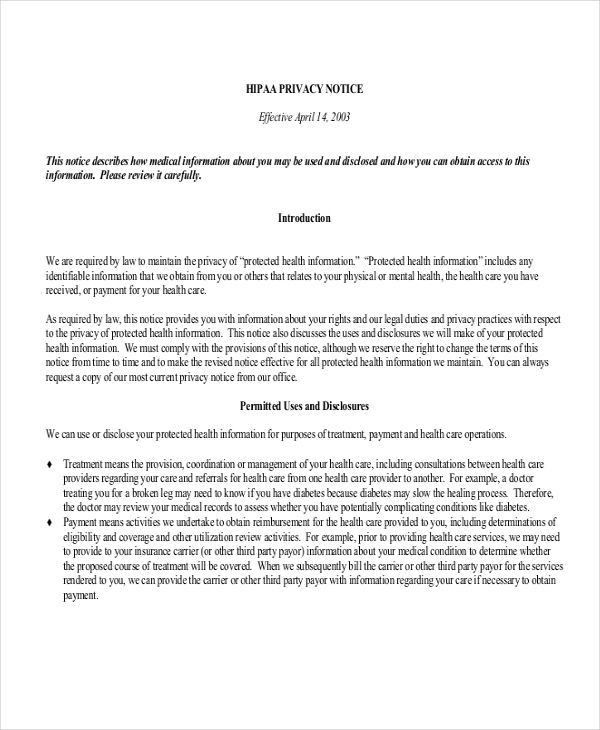 Hipaa Privacy Policy Template - Duevia.com