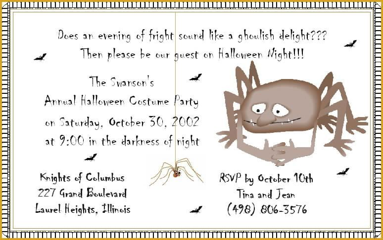 Halloween Luncheon Invitation Wording – Festival Collections