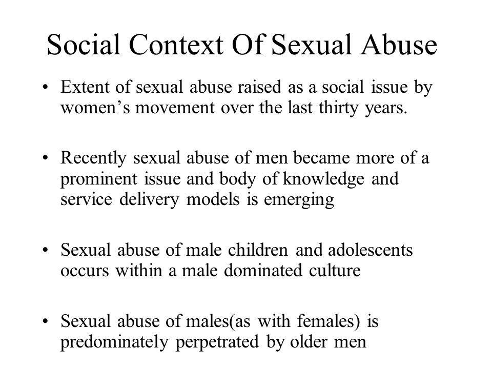 MEN SUBJECTED TO CHILDHOOD SEXUAL ASSAULT: Training, Education and ...