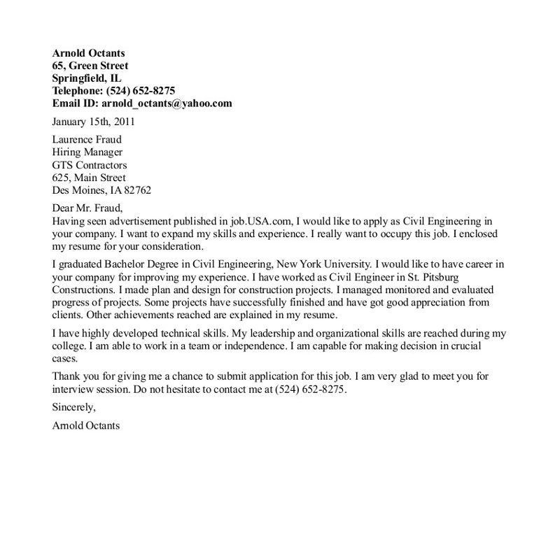 Awesome Ideas Engineering Internship Cover Letter 11 Sample For ...