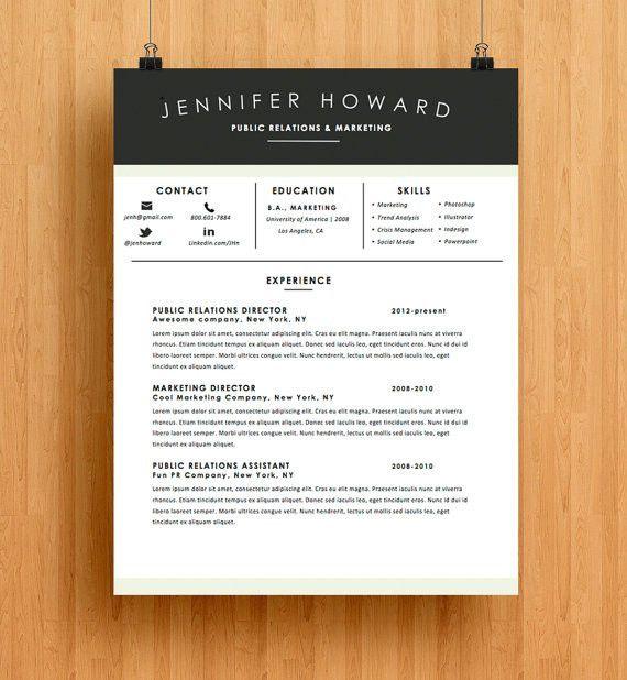 Resume Template | CV Template + Cover Letter | Modern Resume ...