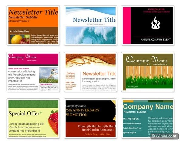 10+ Excellent Websites for Downloading Free HTML Email Newsletter ...