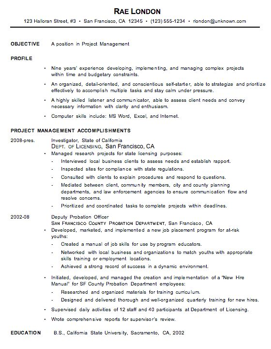 sample resume without objective resume objective examples for