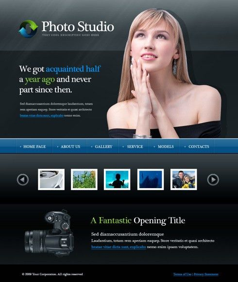 Model Girls CSS Template - 5955 - Beauty & Fashion - Website ...