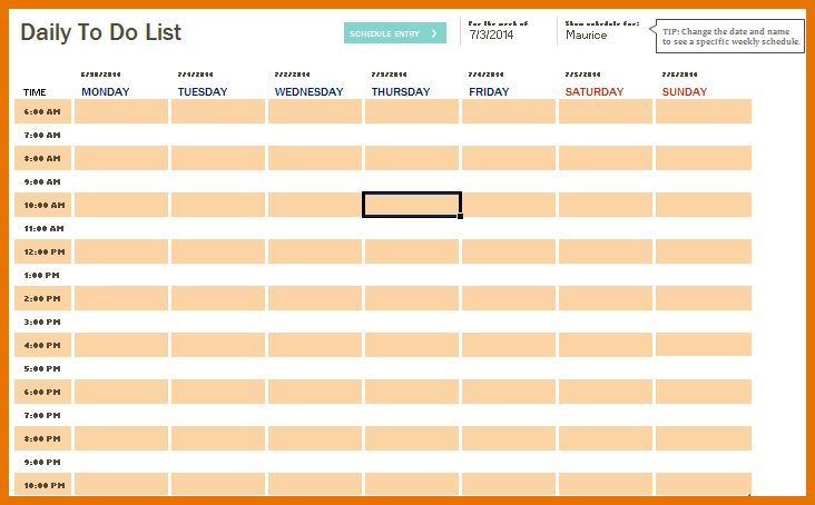 7+ daily to do list template | Itinerary Template Sample