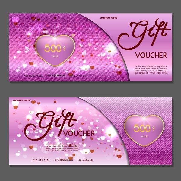 Gift voucher luxury vouchers template vector 14 - Vector Banner ...