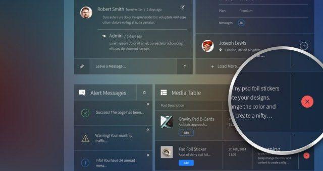 Glazzed Psd Admin Panel Template | Psd Web Templates | Pixeden