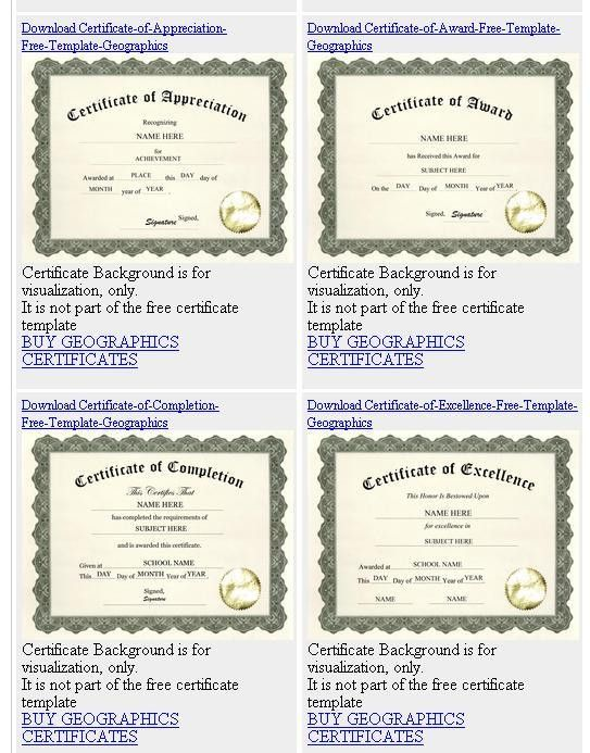 What's New - Free Geographics Templates for Certificates, Diplomas ...