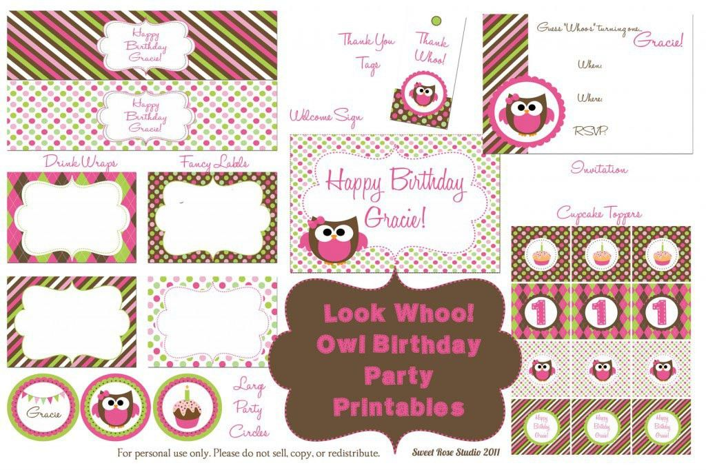 Free Birthday Party Planner Template | Home Party Ideas