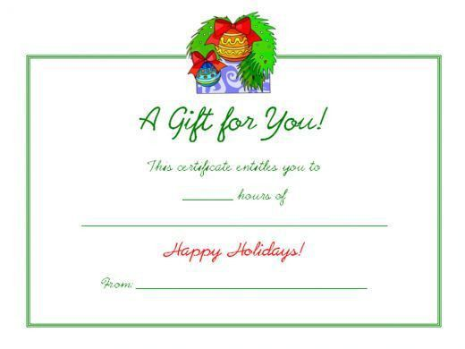 13 best gift certificates images on Pinterest | Gift certificate ...
