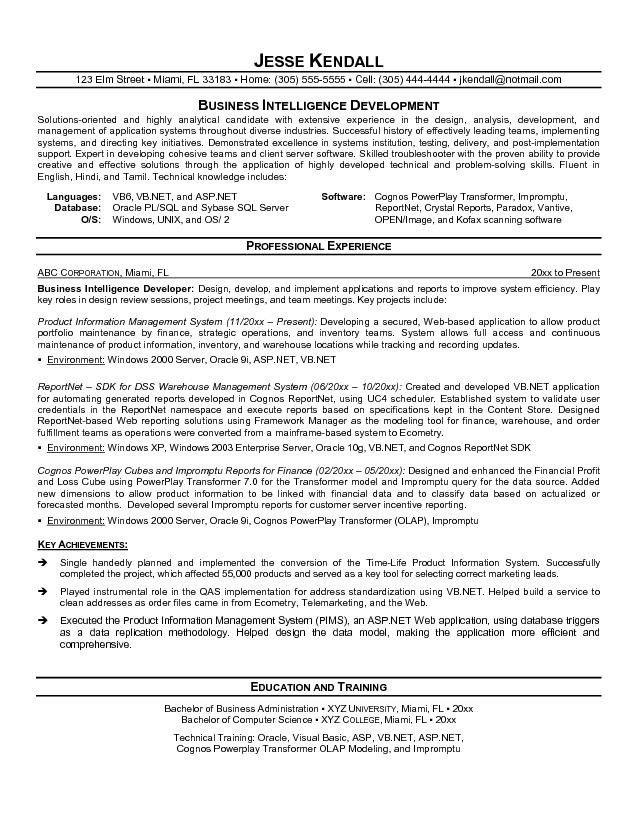 Sample Resume Senior Web Developer | Professional resumes sample ...