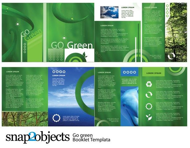 Free Go Green Vector Booklet Template | free vectors | UI Download