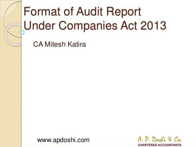 Highlights on changes in Audit Report under Companies Act, 2013