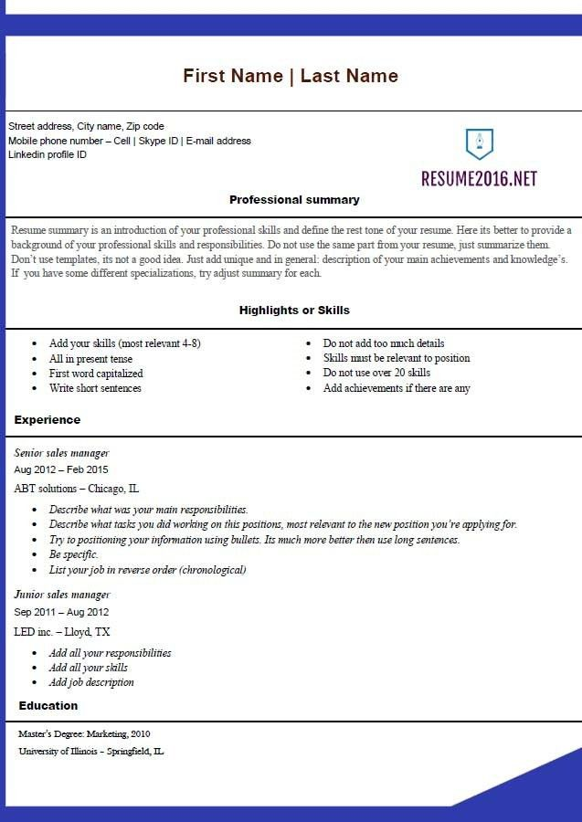 Resume Builder Template Free. Ginger Account Manager Resume ...