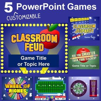 PowerPoint Games Pack - 5 Customizable TV Game Show Templates ...